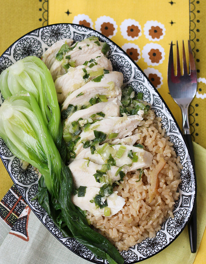 Easy oven baked Singapore Chicken Rice Recipe mypoppet.com.au