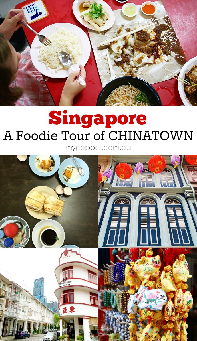 Food tour of Singapore Chinatown with map
