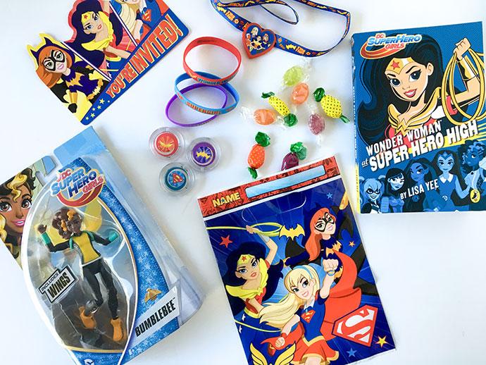 DC superhero girls party Loot Bags mypoppet.com.au