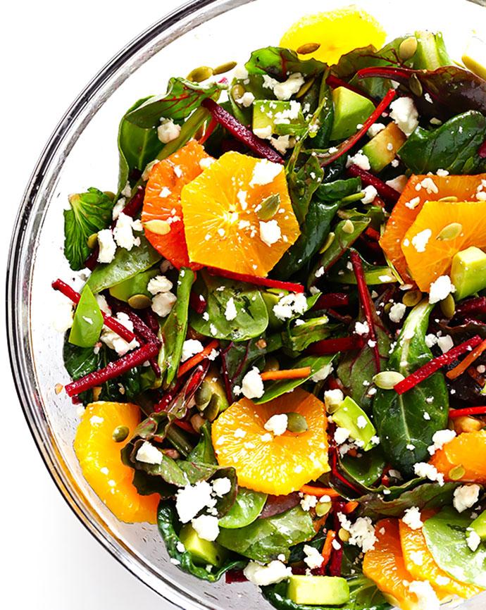 Green Salad with Oranges, Beets & Avocado recipe