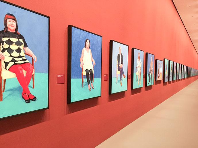 David Hockney portrait NGV