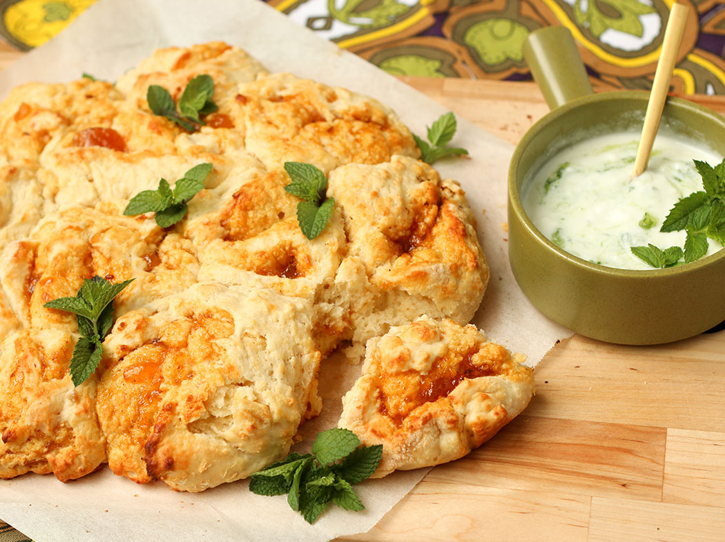 savoury mango chutney scone pull-apart recipe