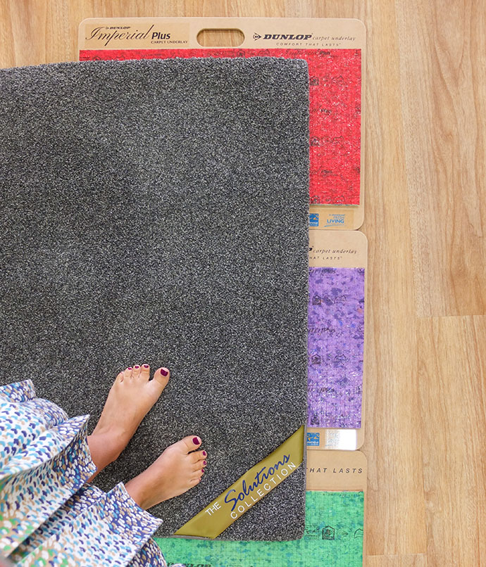 How to choose the right carpet for your home - picking underlays - mypoppet.com.au