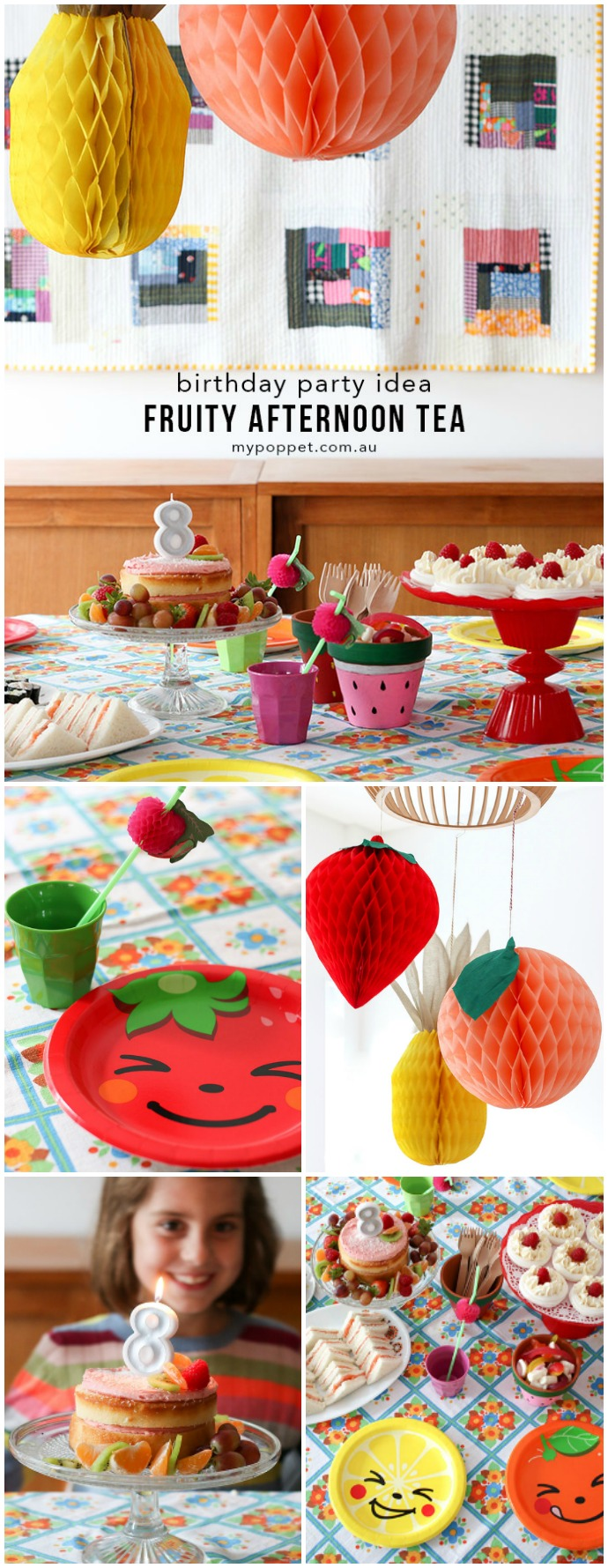 Easy Birthday party idea - Fruity Afternoon Tea Party