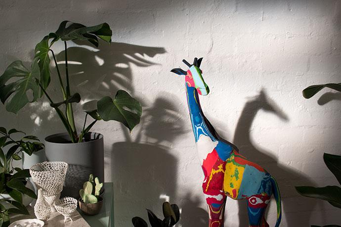 Giraffe statue - cool cactus plant store melbourne
