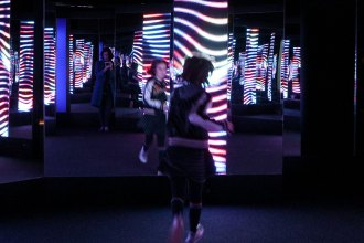 Scienceworks - LightTime exhibition - Light art mypoppet.com.au