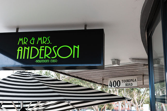 Mr & Mrs Anderson Cafe Review