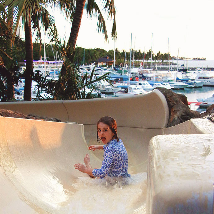 waterslide - How to Afford your Dream Family Holiday - 5 Tips for planning and booking a vacation - mypoppet.com.au