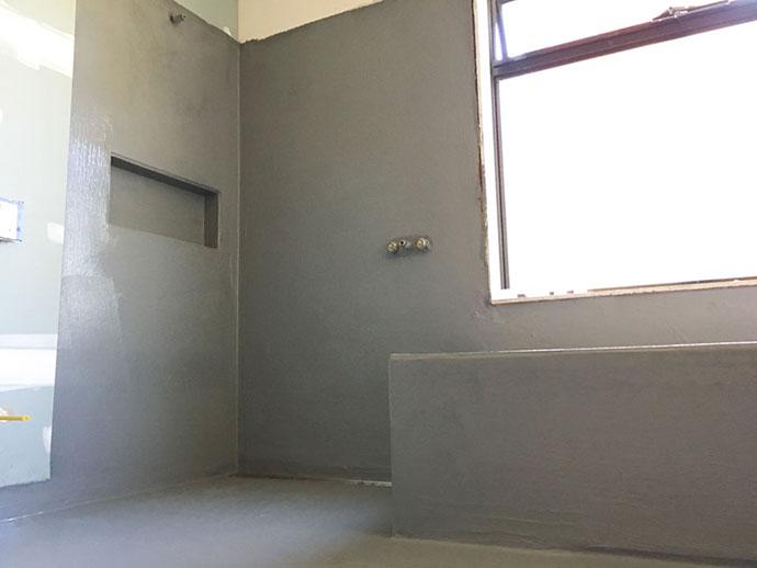 Bathroom renovation progress - waterproofing