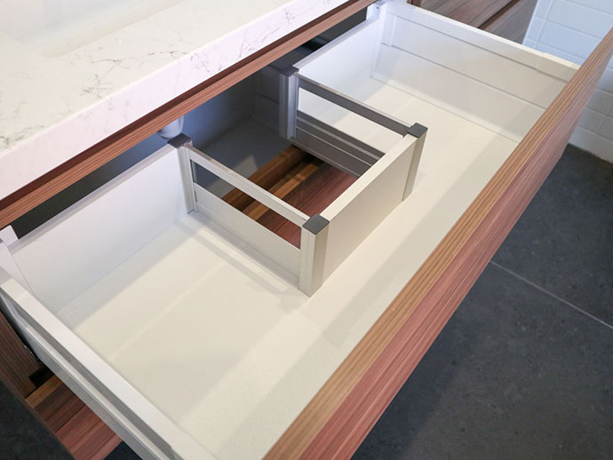 drawer cut out bathroom vanity
