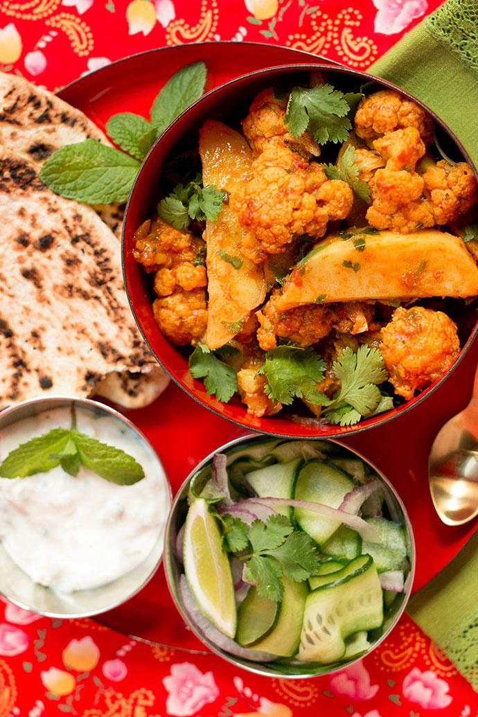 cauliflower and potato curry - vegan, vegetarian meal - mypoppet.com.au