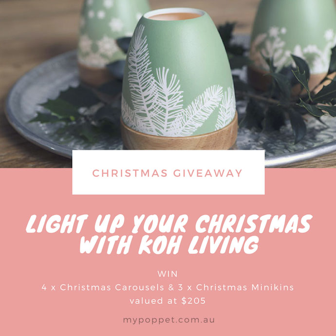 Win Christmas Prize pack from Koh Living mypoppet.com.au