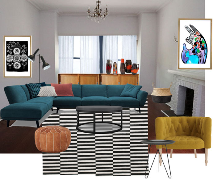 Lounge room makeover Moodboard - mypoppet.com.au