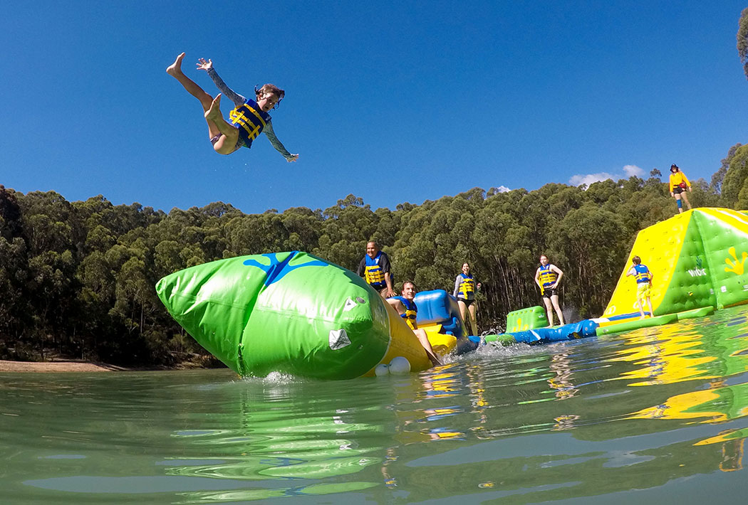 Parky's Inflatable water park, Yarra Valley Victoria, Australia - mypoppet.com.au