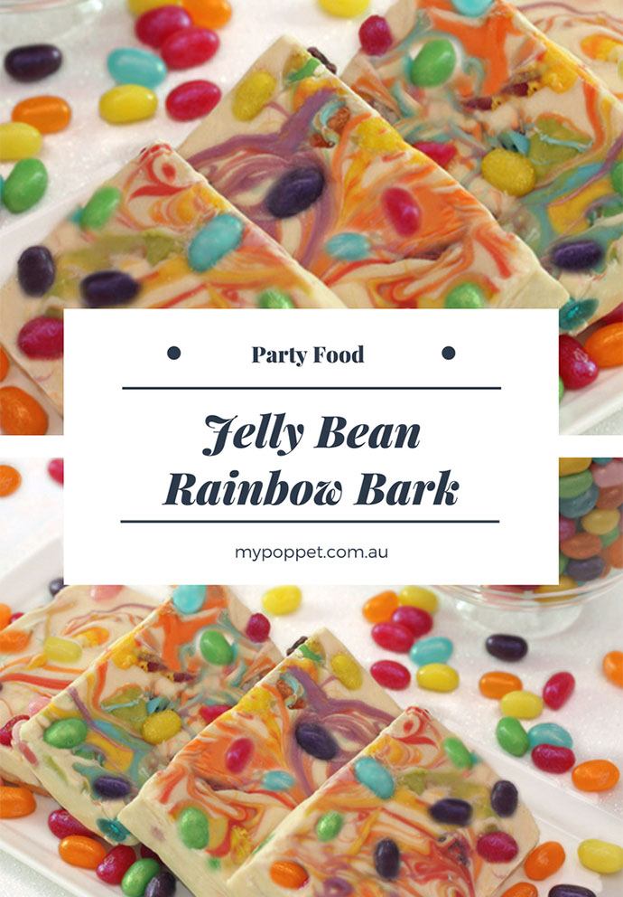 Jelly bean chocolate bark - mypoppet.com.au