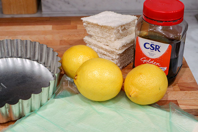 Ingredients for treacle tart - mypoppet.com.au