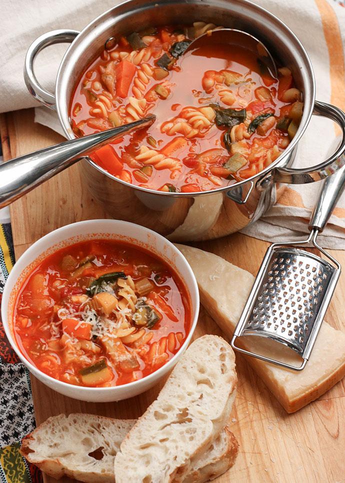 minestrone soup recipe - mypoppet.com.au