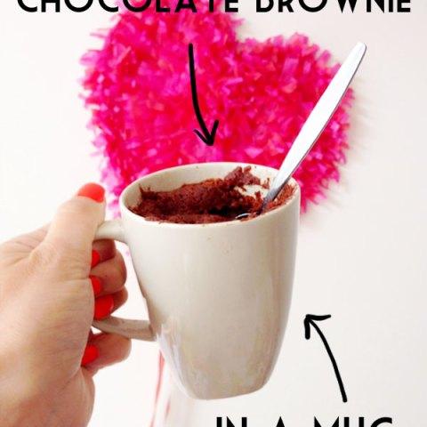 Easy Recipe: Two Minute Chocolate Brownie in a Mug