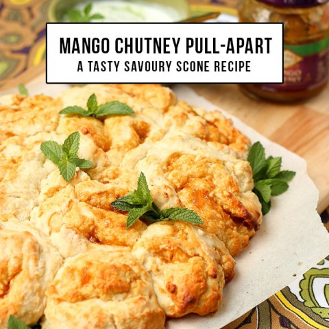 Mango Chutney Savoury Scone Pull-apart