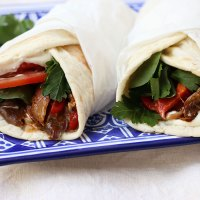 Greek Style Slow Cooked Lamb Shank Wraps