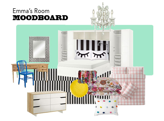 Moodboard teen room mint green - mypoppet.com.au