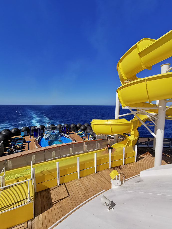 Waterslide on cruise ship - carnival spirit