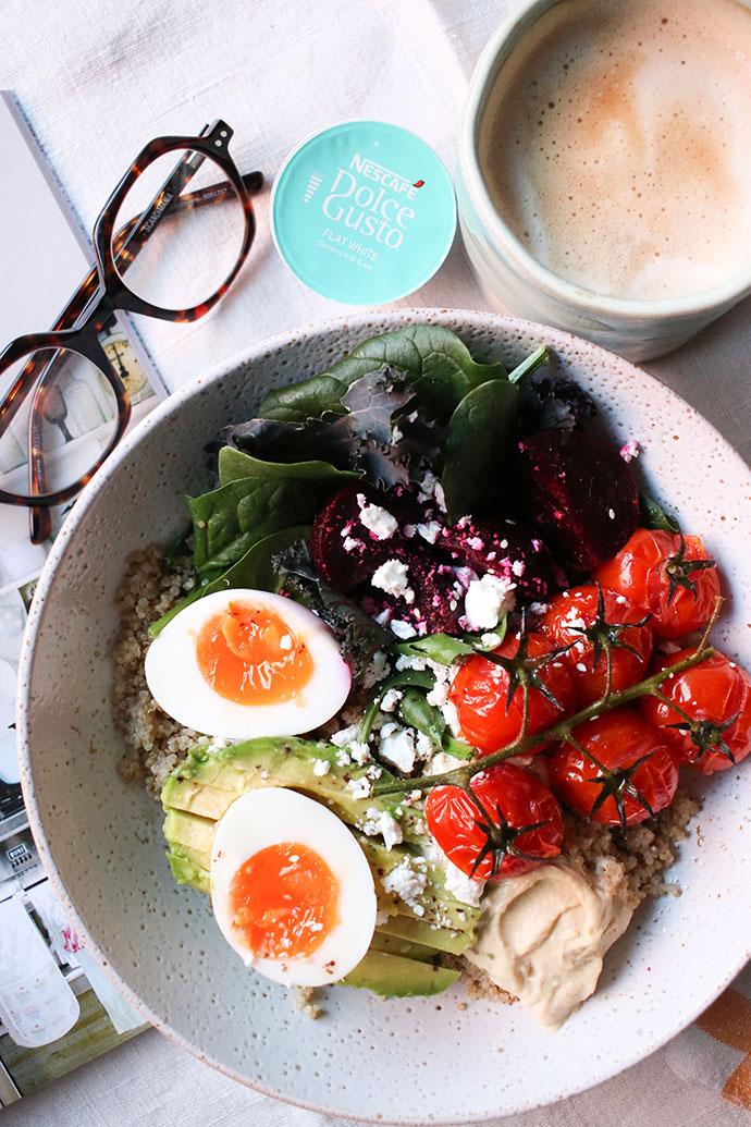 Vegetarian Quinoa Breakfast Bowl Recipe - mypoppet.com.au