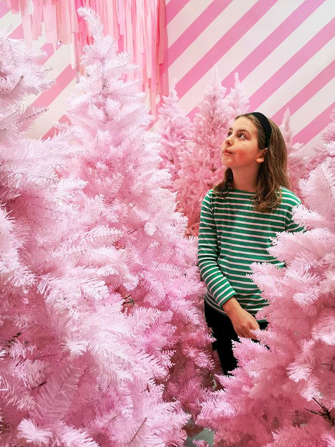 Pink christmas forest christmasland mypoppet.com.au