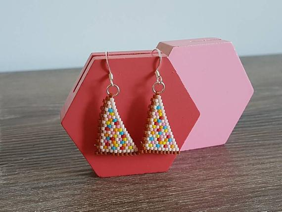Fairy Bread Beaded Earrings