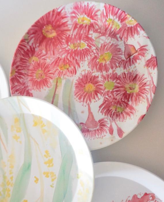 Australian Botanical Melamine Plate set