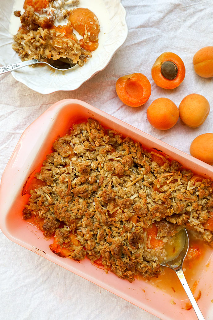 Apricot crumble recipe