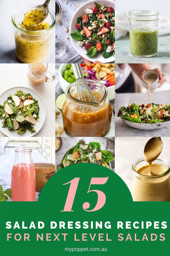 15 Salad Dressing Recipes for Next Level Salads!   My Poppet