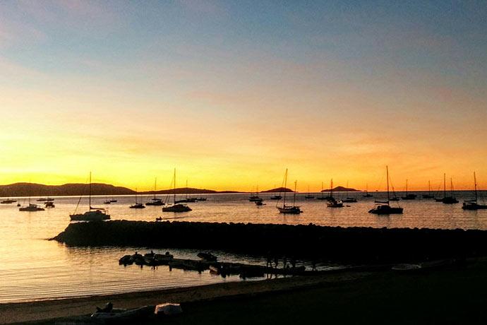 Sunset on Airlie beach