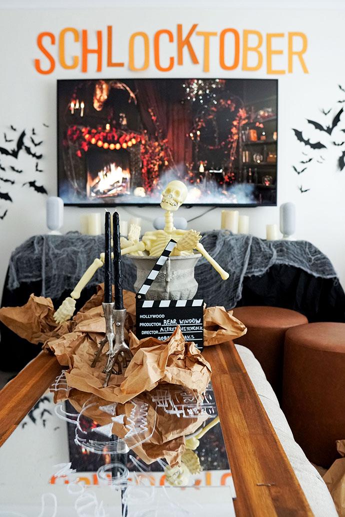 halloween movie nights decor