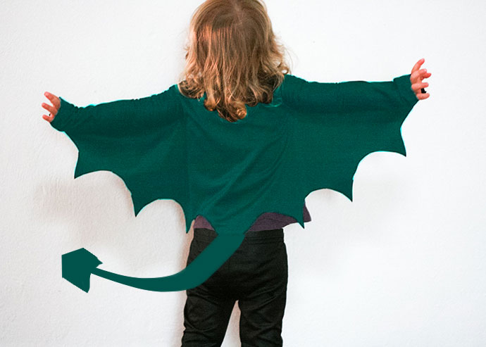 Halloween DIY dragon costume - mypoppet.com.au