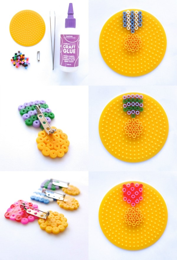 How To: Hama Bead Medal Brooch | My Poppet Makes