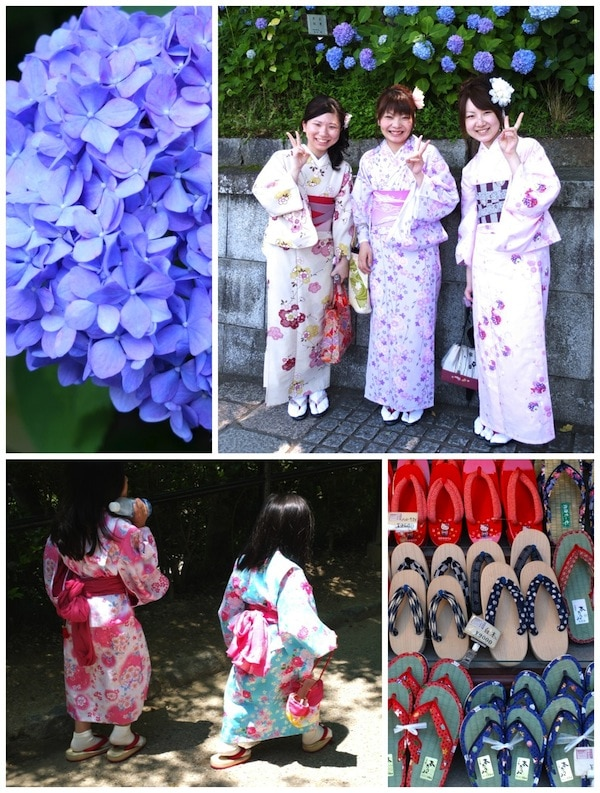 Lovely locals wearing Kimono Kyoto