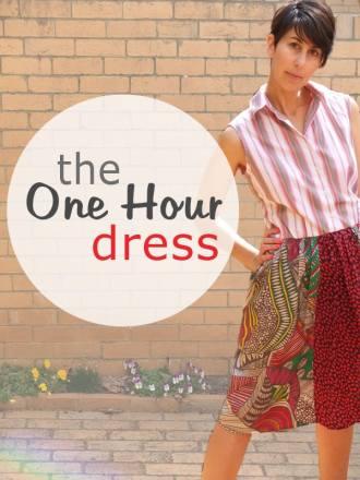 one hour dress refashion