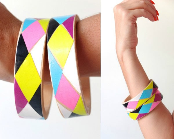 How to make Harlequin Decoupage Bangles