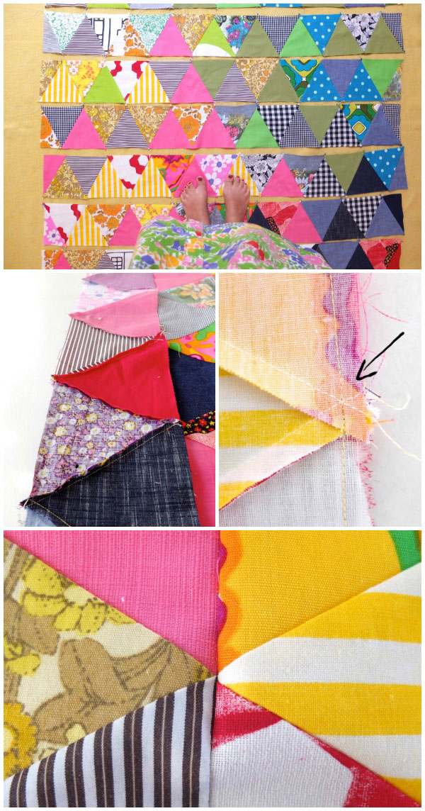 Triangle quilt instructions sewing