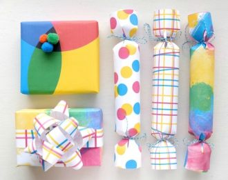 Printable modern wrapping papers in CYMK colourway by mypoppet.com.au