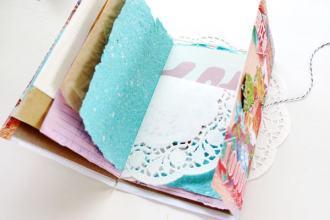 DIY scrap paper and ephemera note book