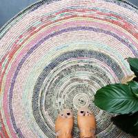 Coil + Crochet Scrap Fabric Rug DIY