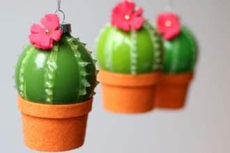 Cactus Christmas babuble decoration DIY