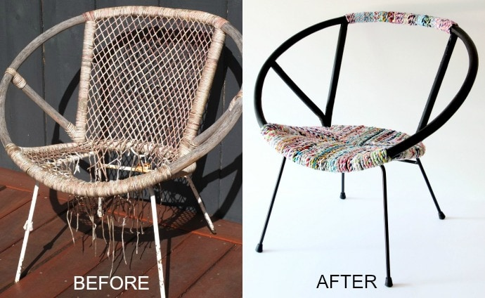 chair makeover - before and after