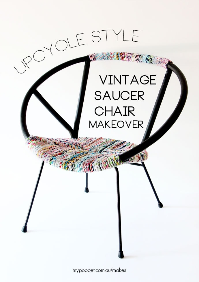 Upcycle Style: Vintage Saucer Chair Makeover