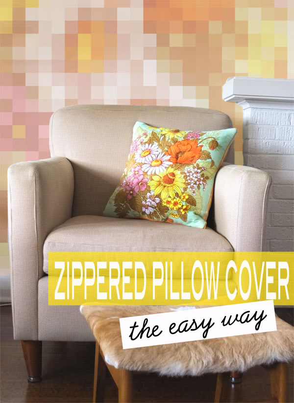 how to insert a zip into a pillow cover mypoppet.com.au