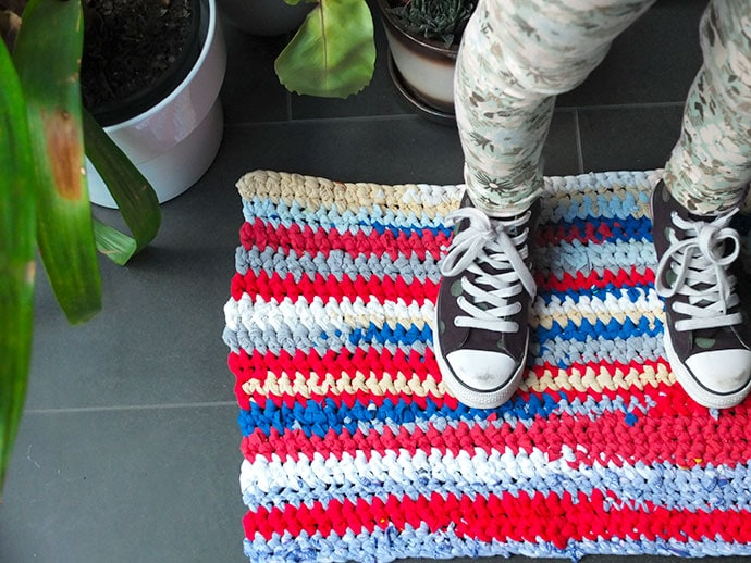 crochet rag rug - t-shirt yarn