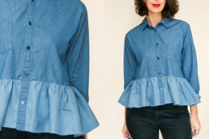 clothing refashion - how to make a ruffle shirt