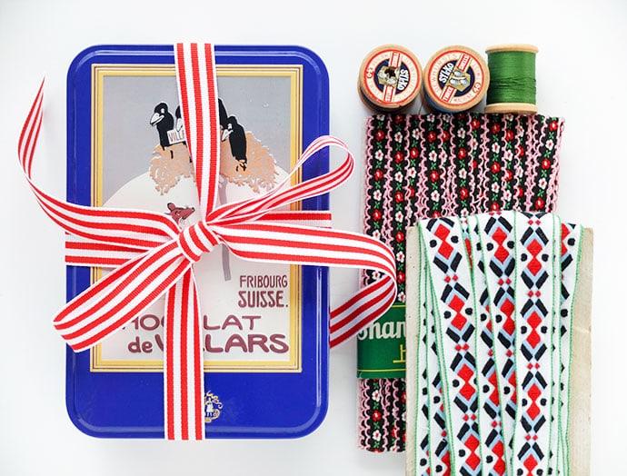 Vintage sewing tin - mypoppet.com.au
